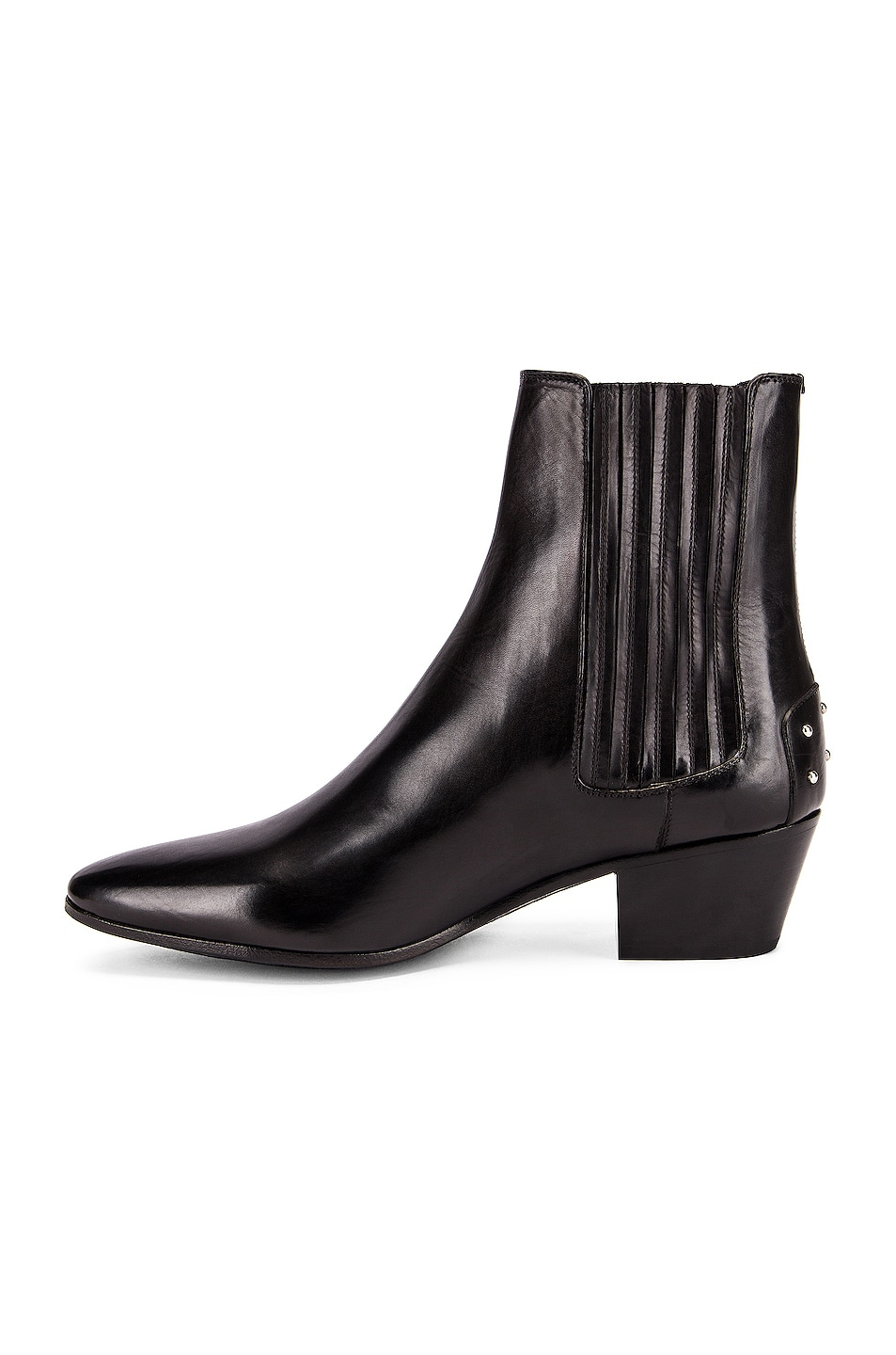 Image 5 of Saint Laurent West Leather Chelsea Boots in Black