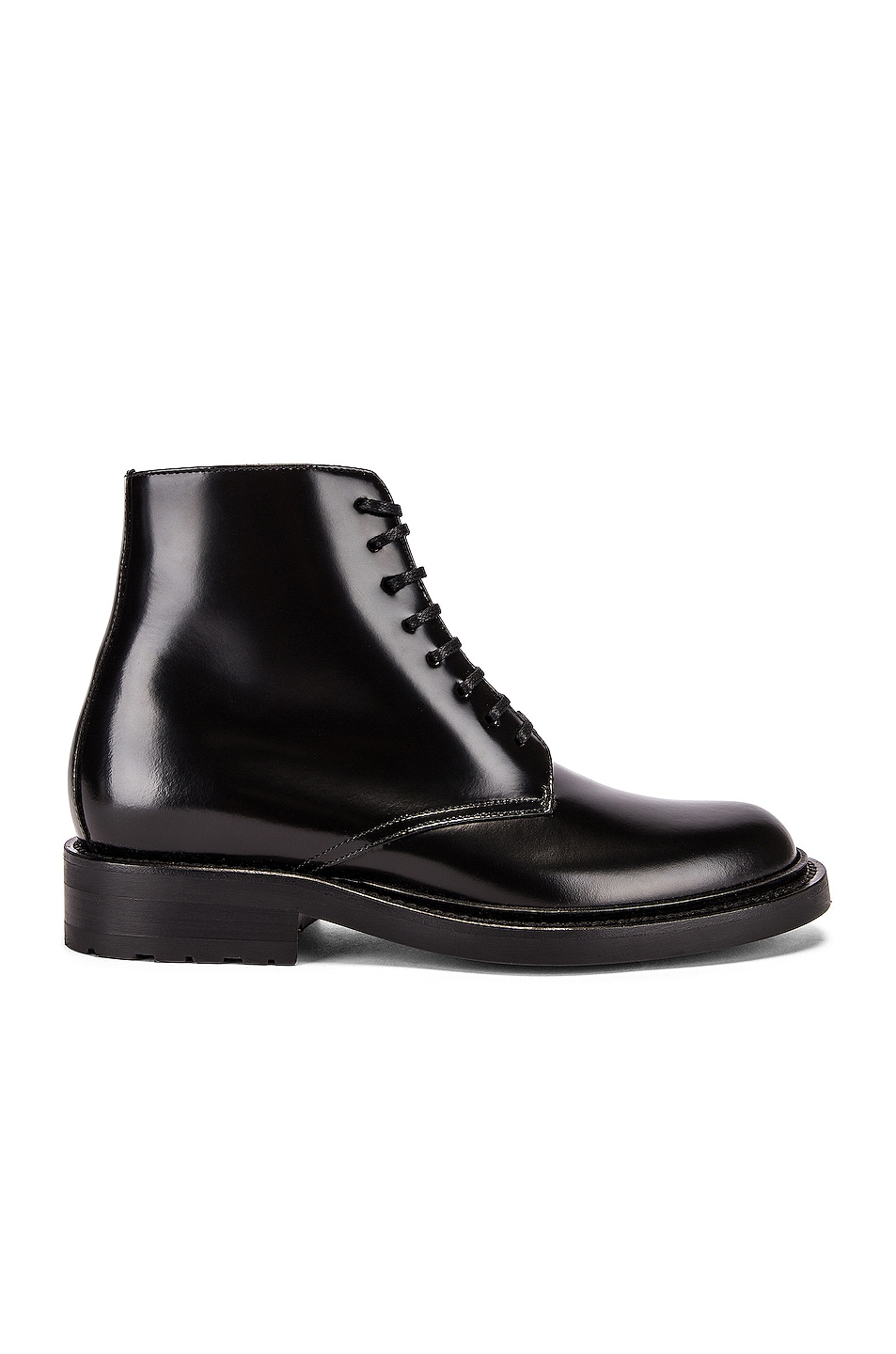 Image 1 of Saint Laurent Army Lace Up Leather Booties in Black