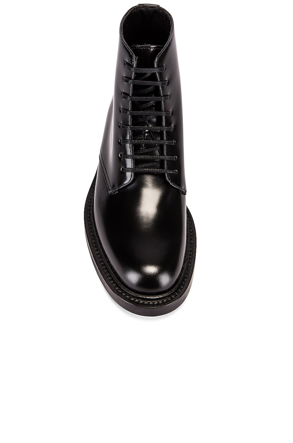 Image 4 of Saint Laurent Army Lace Up Leather Booties in Black