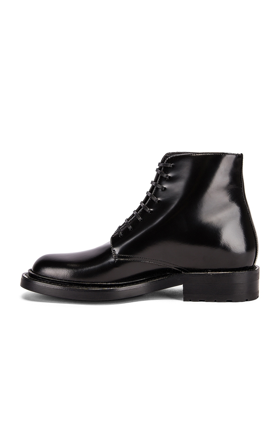 Image 5 of Saint Laurent Army Lace Up Leather Booties in Black