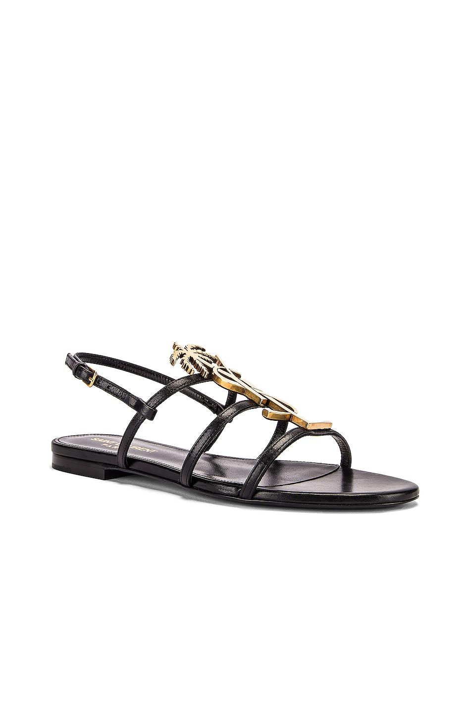 Image 3 of Saint Laurent Cassandra Sandals in Black