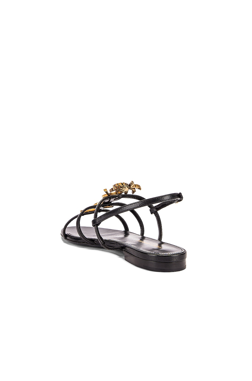 Image 4 of Saint Laurent Cassandra Sandals in Black