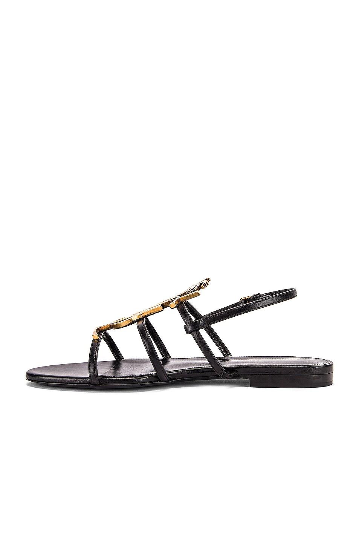 Image 5 of Saint Laurent Cassandra Sandals in Black