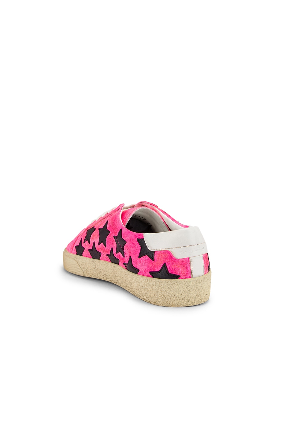 Image 3 of Saint Laurent Star Low Top Sneakers in Pink & Black