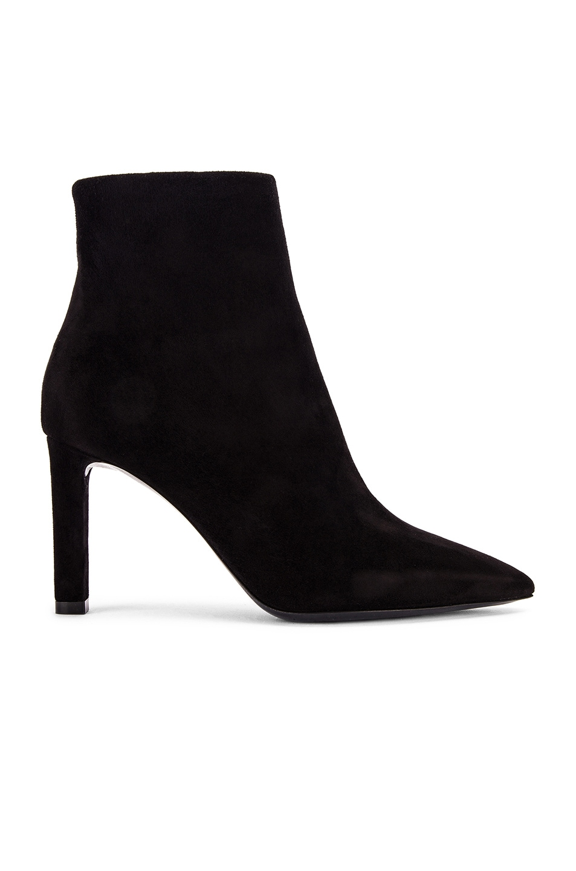 Image 1 of Saint Laurent Kate Zip Ankle Booties in Black