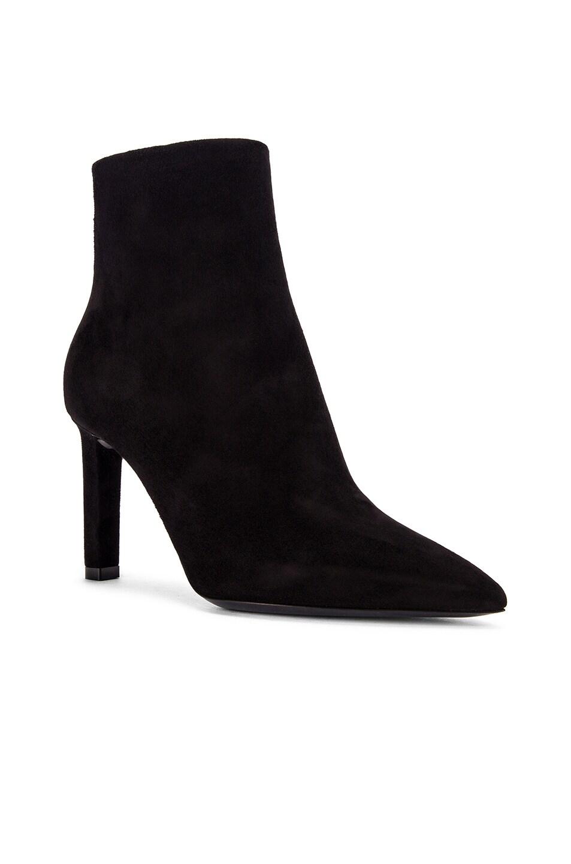 Image 2 of Saint Laurent Kate Zip Ankle Booties in Black