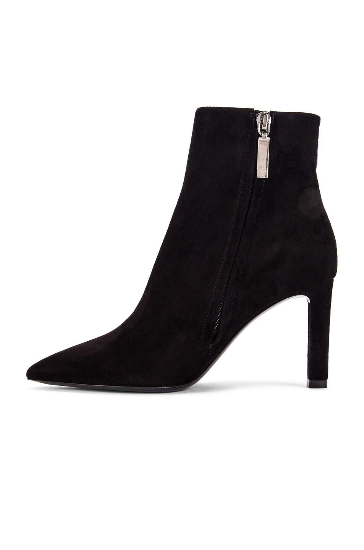 Image 5 of Saint Laurent Kate Zip Ankle Booties in Black