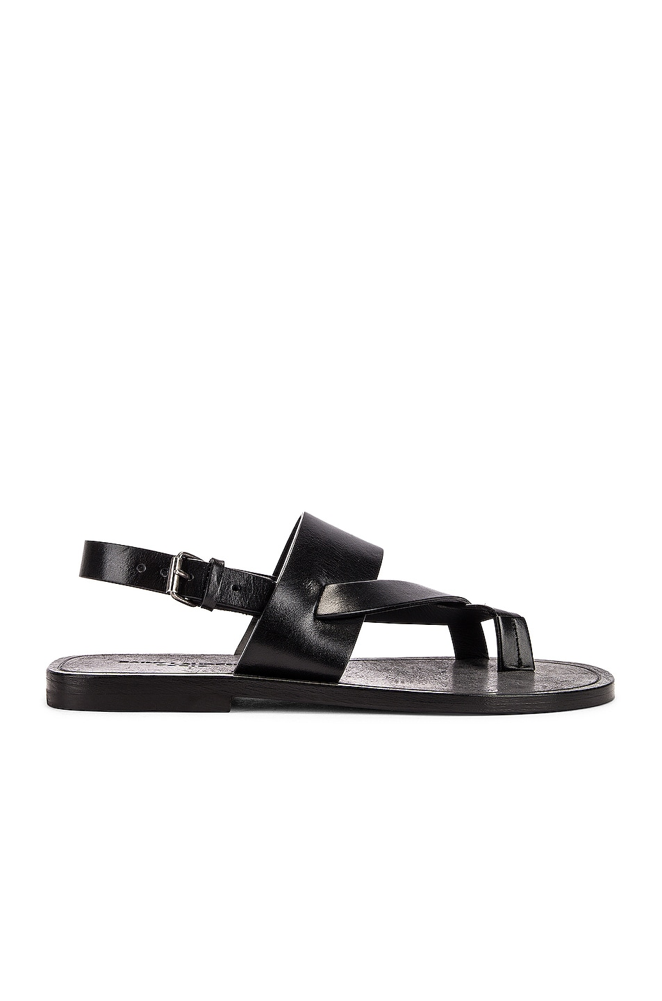 Image 1 of Saint Laurent Culver Buckle Sandals in Black
