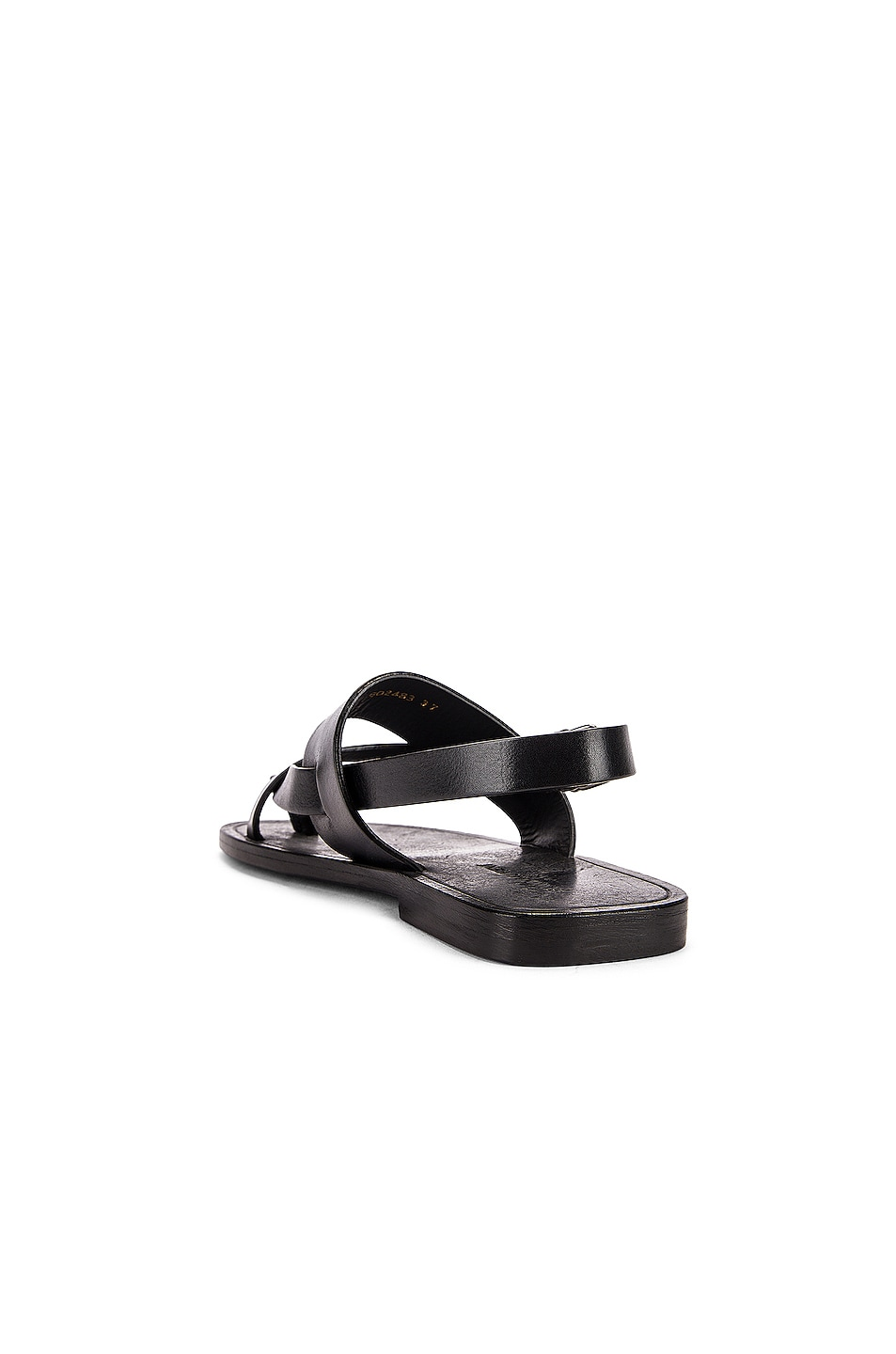 Image 3 of Saint Laurent Culver Buckle Sandals in Black