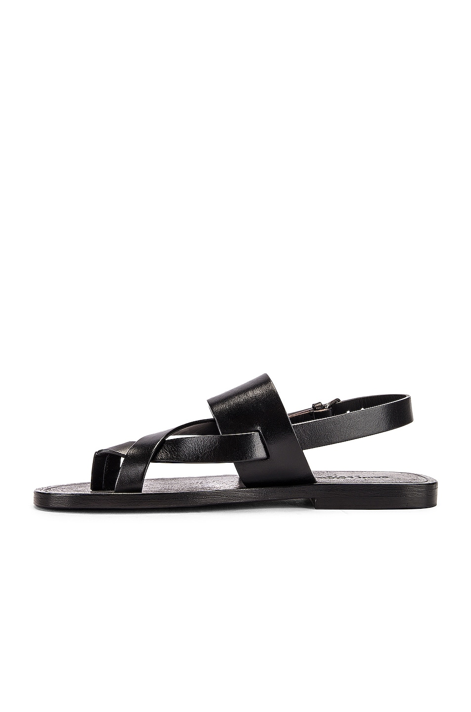 Image 5 of Saint Laurent Culver Buckle Sandals in Black