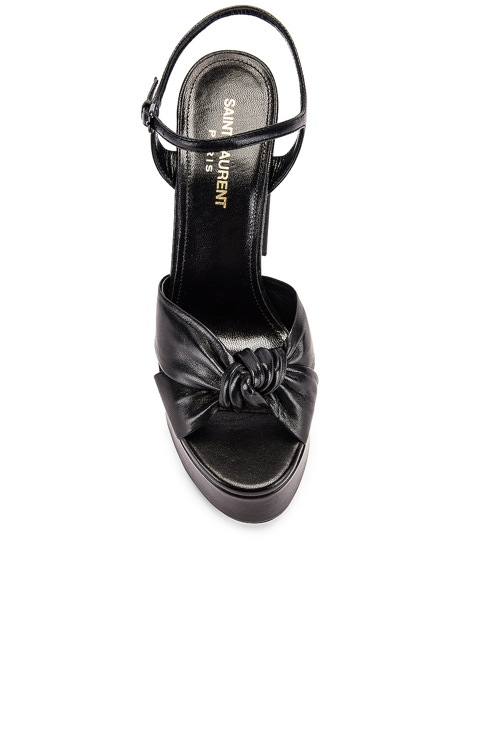 Image 4 of Saint Laurent Bianca Platform Sandals in Black