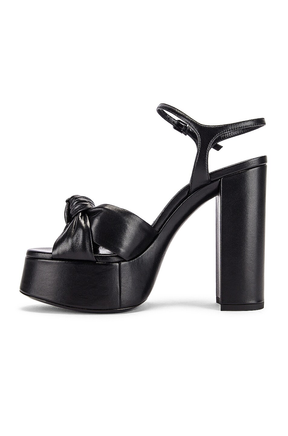 Image 5 of Saint Laurent Bianca Platform Sandals in Black