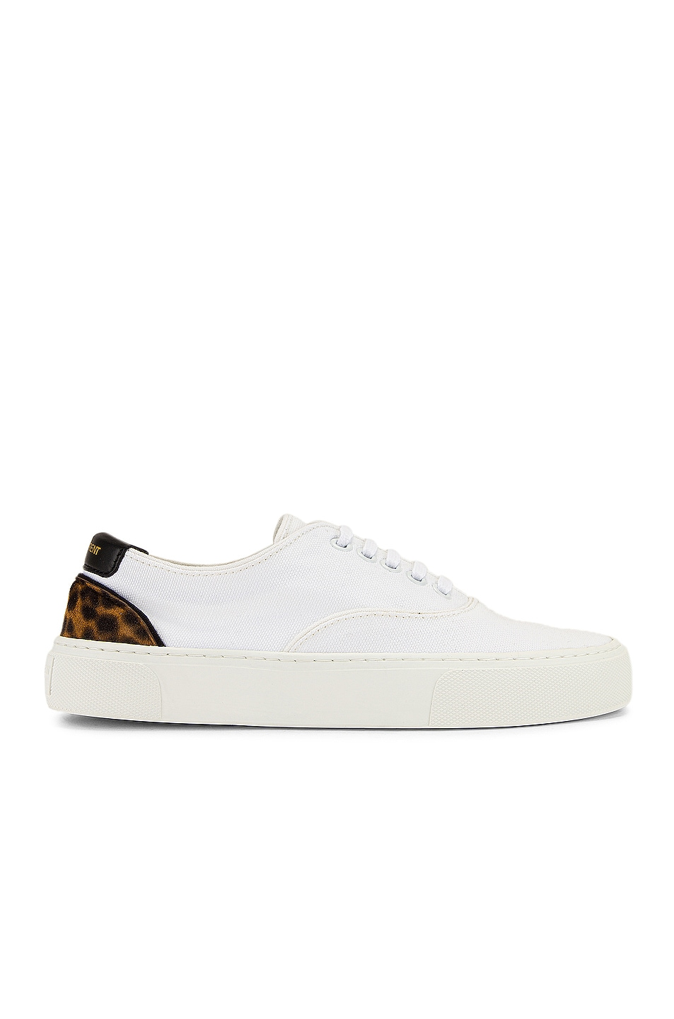 Image 1 of Saint Laurent Venice Low Top Sneakers in White & Manto Naturale