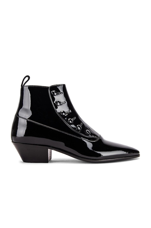 Image 1 of Saint Laurent Belle Button Ankle Boots in Black