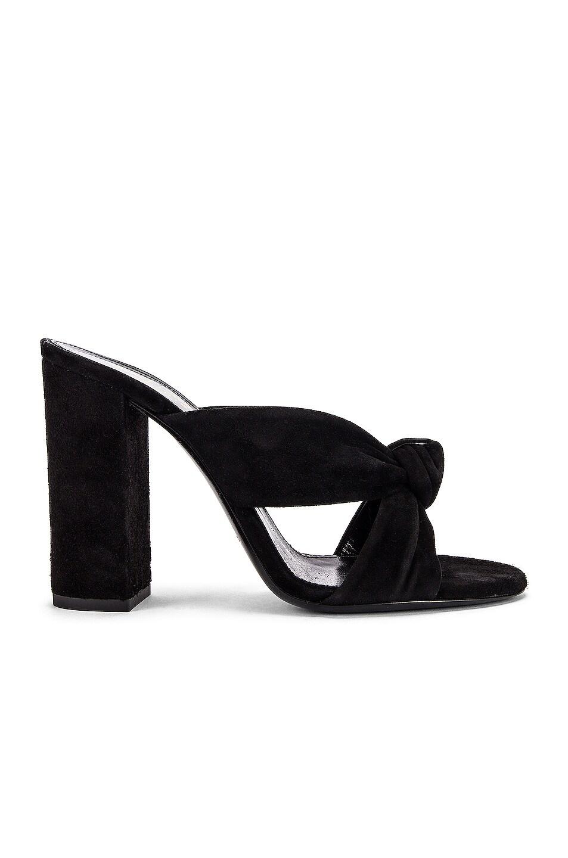 Image 1 of Saint Laurent LouLou Mules in Black