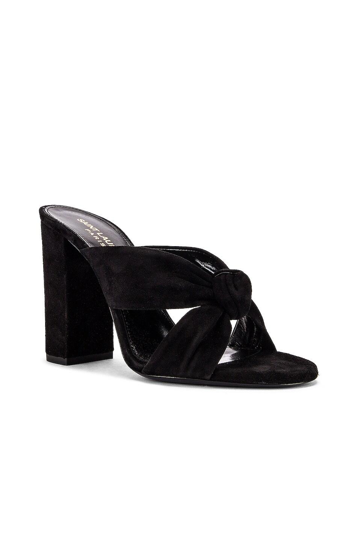 Image 2 of Saint Laurent LouLou Mules in Black