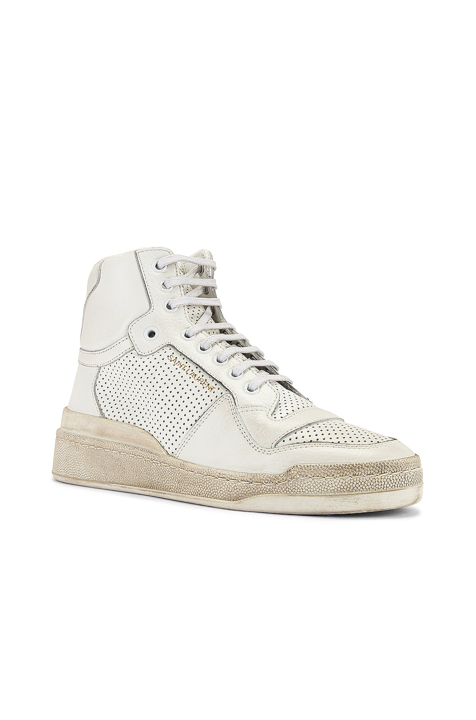 Image 2 of Saint Laurent High Top Sneakers in White