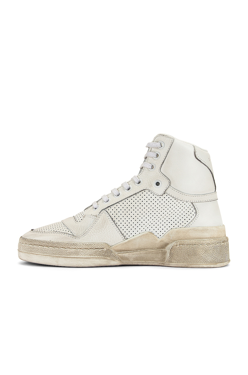 Image 5 of Saint Laurent High Top Sneakers in White