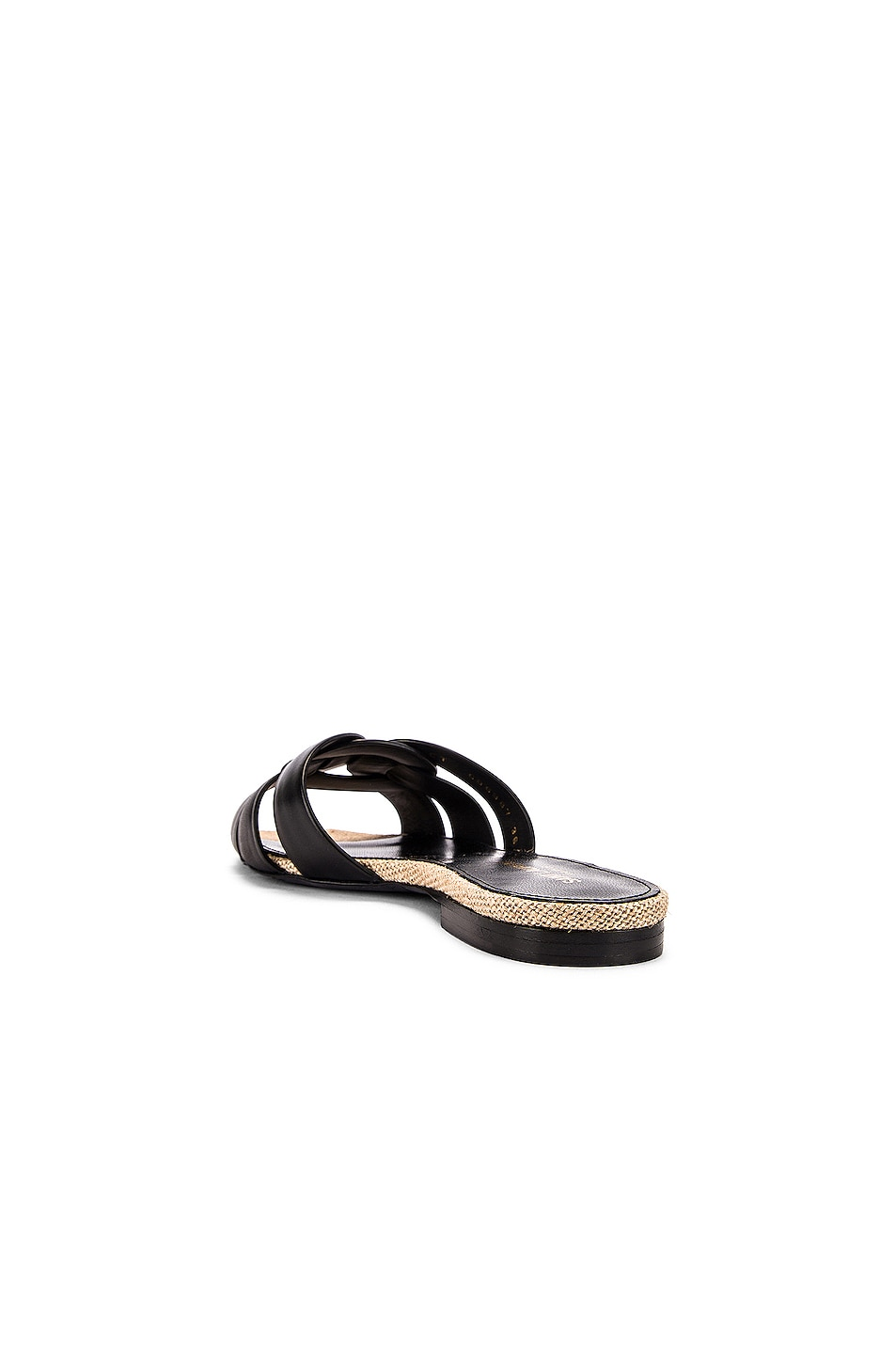 Image 3 of Saint Laurent Leather Slides in Black
