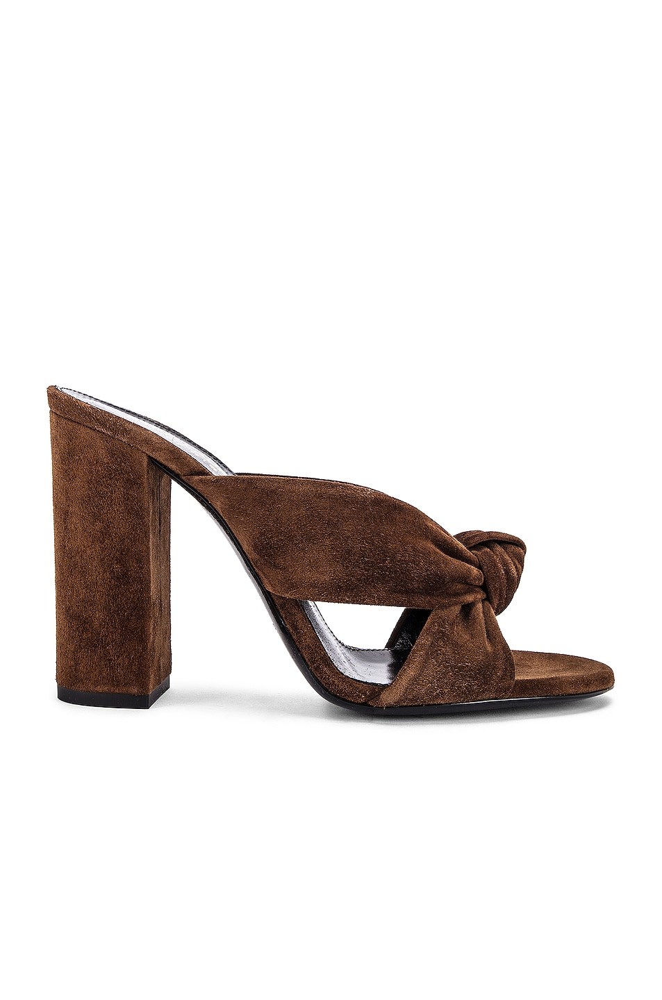 Image 1 of Saint Laurent LouLou Mules in Land