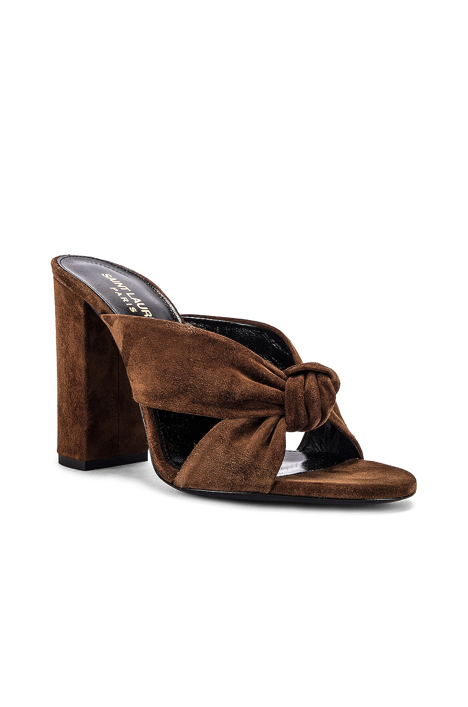 Image 2 of Saint Laurent LouLou Mules in Land