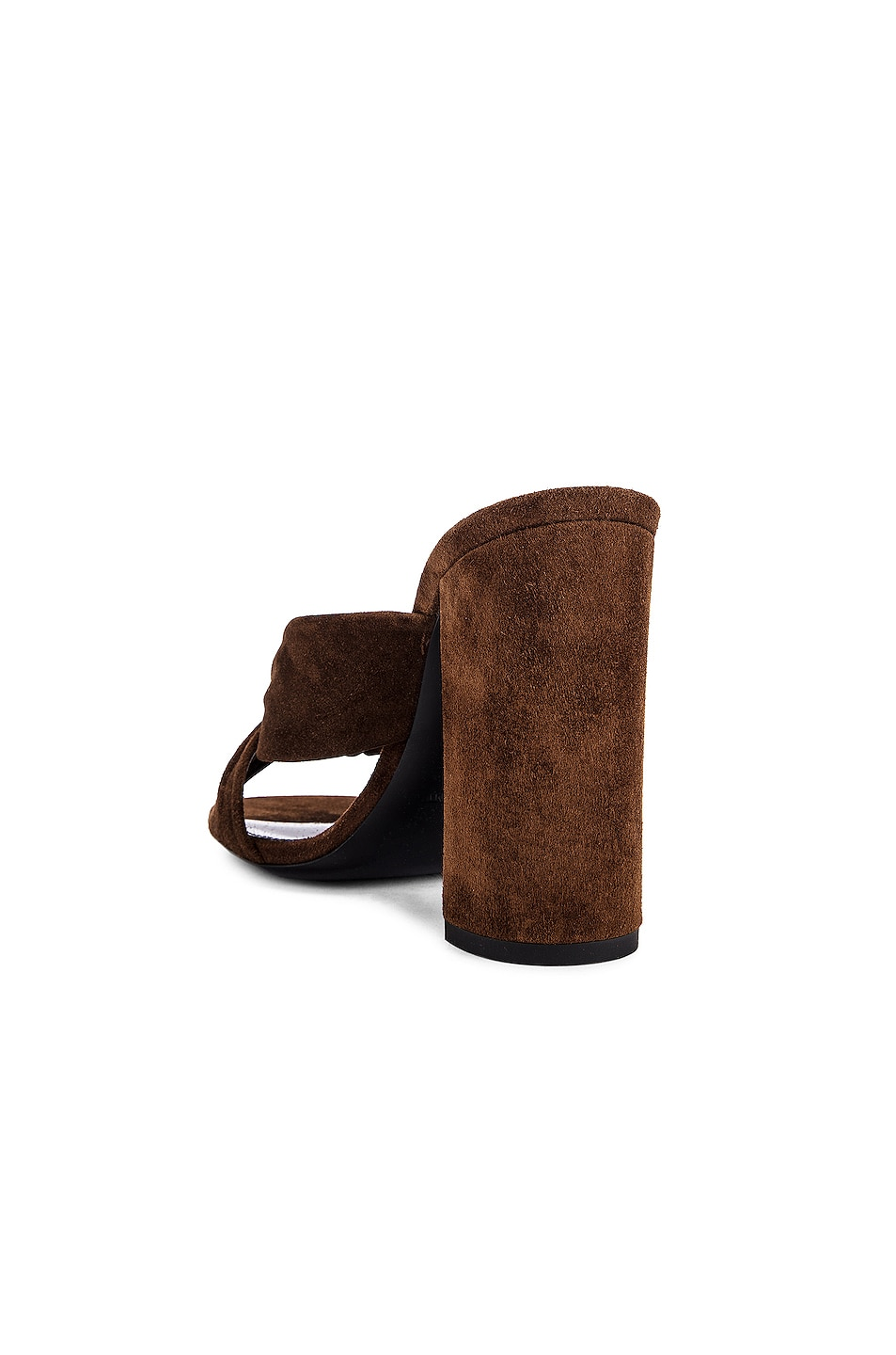 Image 3 of Saint Laurent LouLou Mules in Land