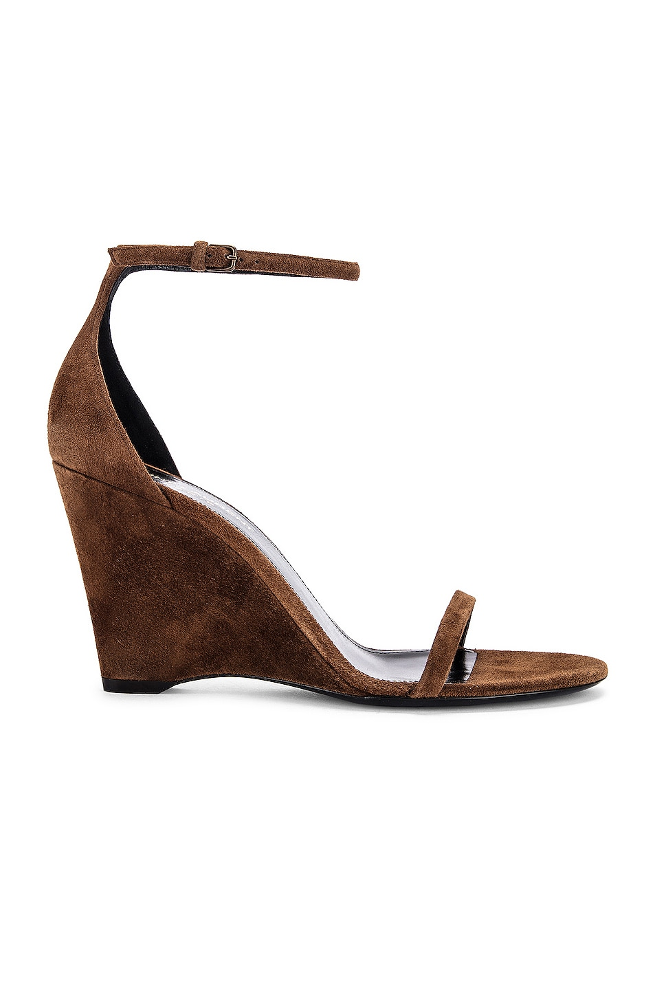 Image 1 of Saint Laurent Lila Wedge Sandals in Land