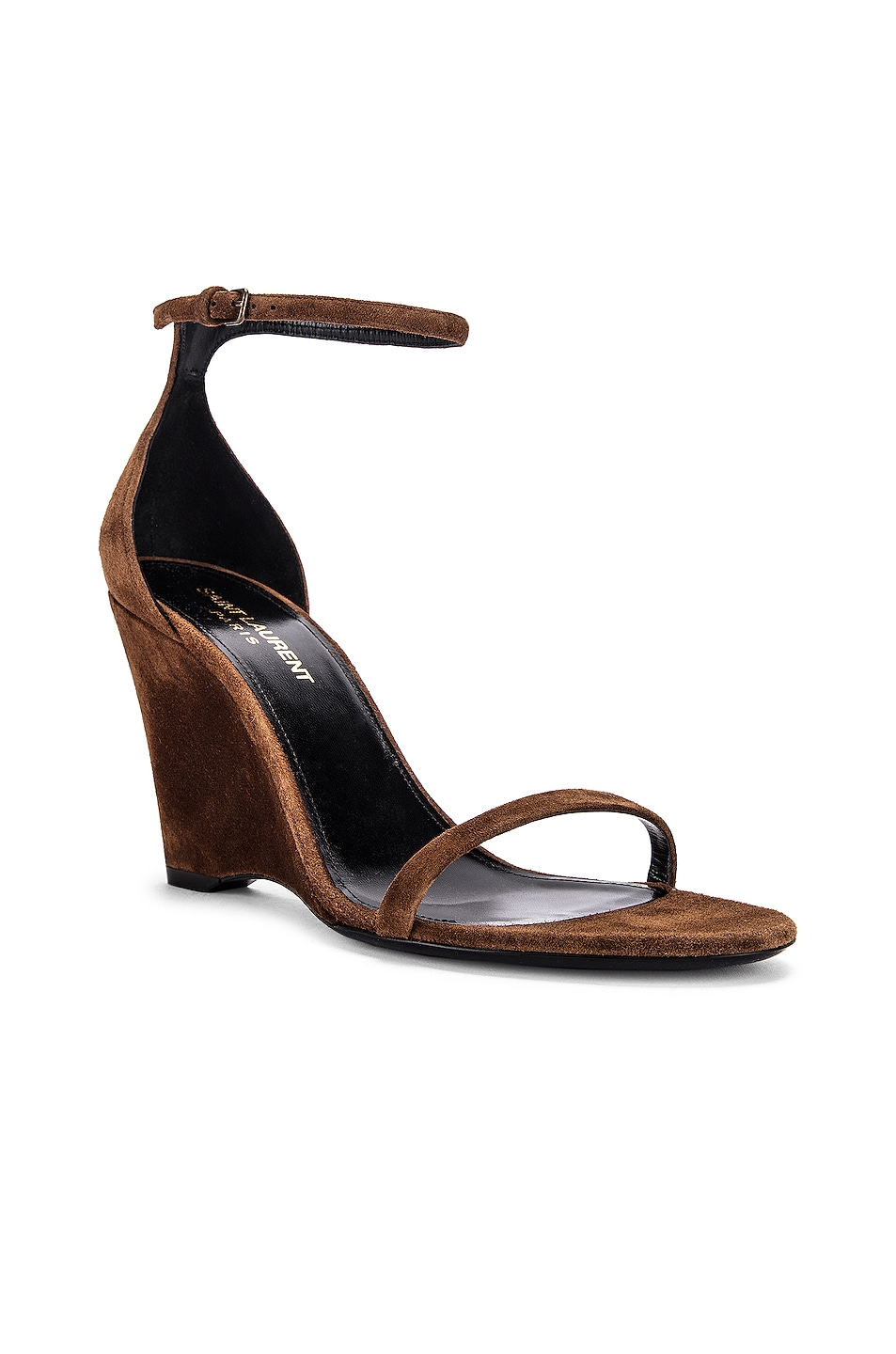 Image 2 of Saint Laurent Lila Wedge Sandals in Land