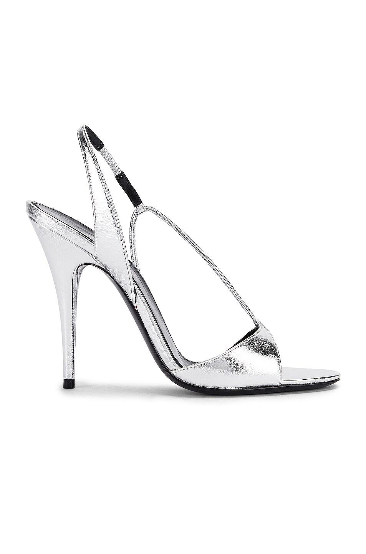 Image 1 of Saint Laurent Anouk Sandals in Silver