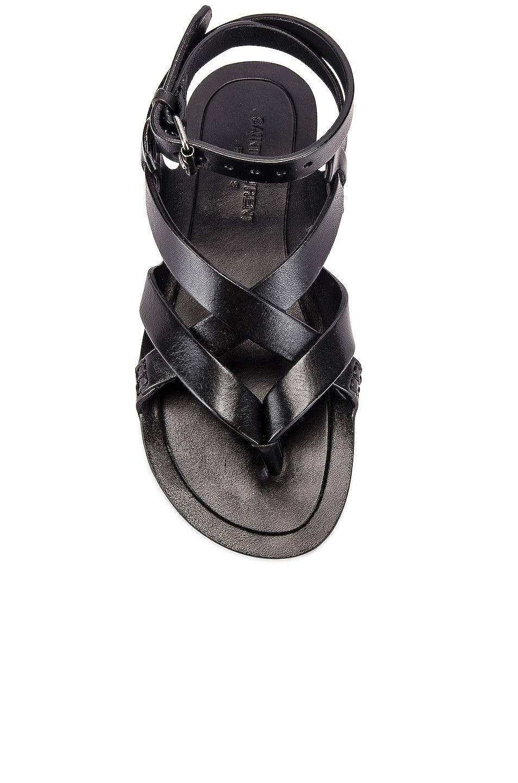 Image 4 of Saint Laurent Culver Buckle Sandals in Black