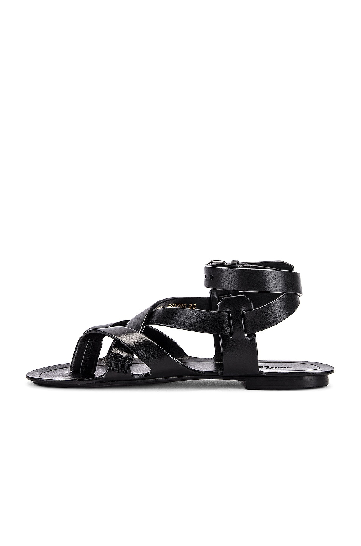 Image 5 of Saint Laurent Culver Buckle Sandals in Black