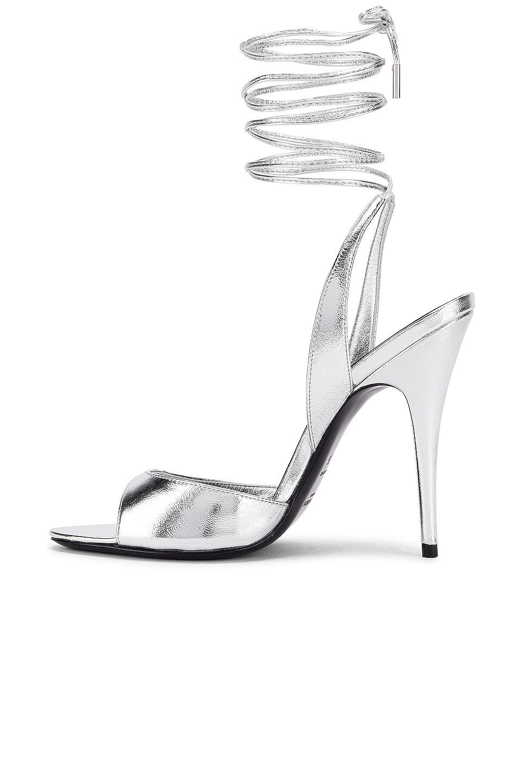 Image 5 of Saint Laurent Anouk Sandals in Silver