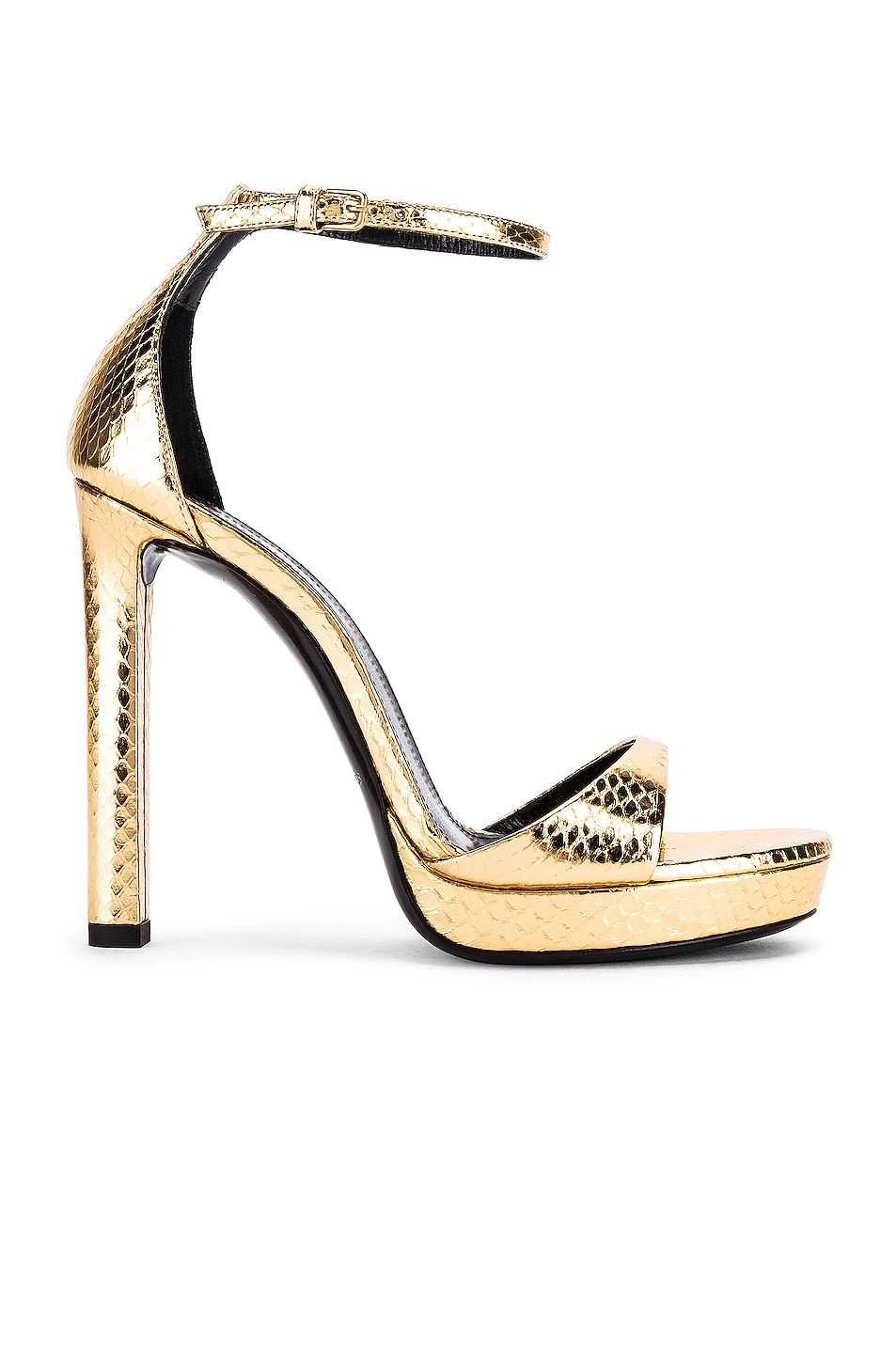 Image 1 of Saint Laurent Hall Ankle Strap Sandals in Gold