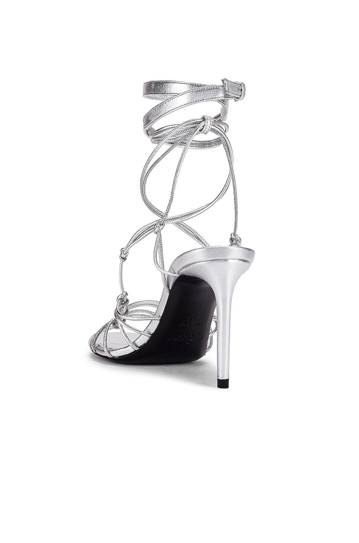 Image 3 of Saint Laurent Robin Zig Zag Heels in Silver