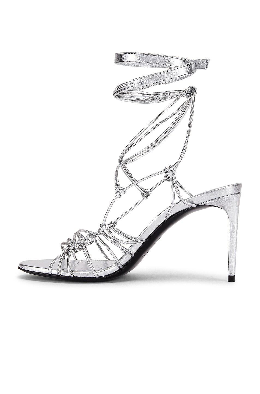 Image 5 of Saint Laurent Robin Zig Zag Heels in Silver