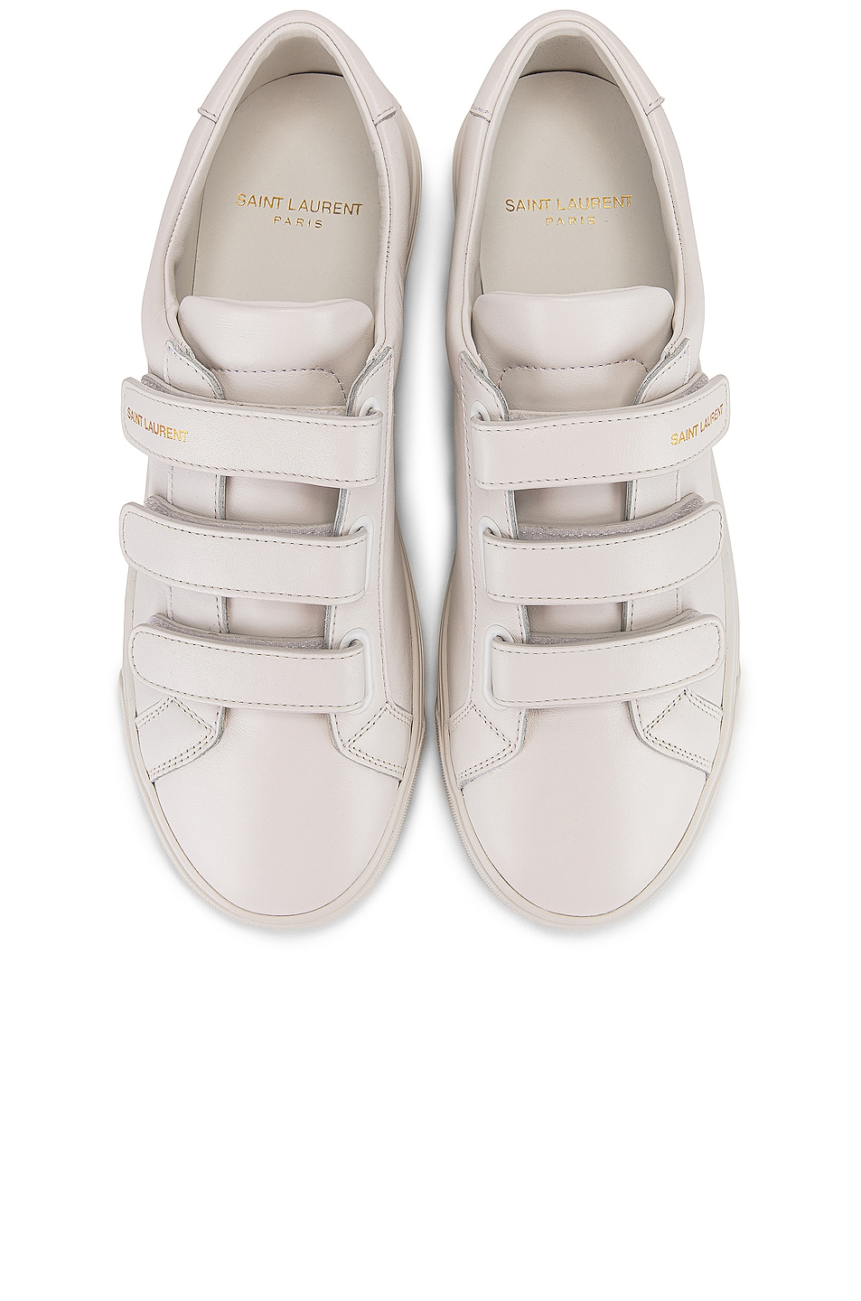 Image 1 of Saint Laurent Andy Velcro Strap Low Top Sneakers in White