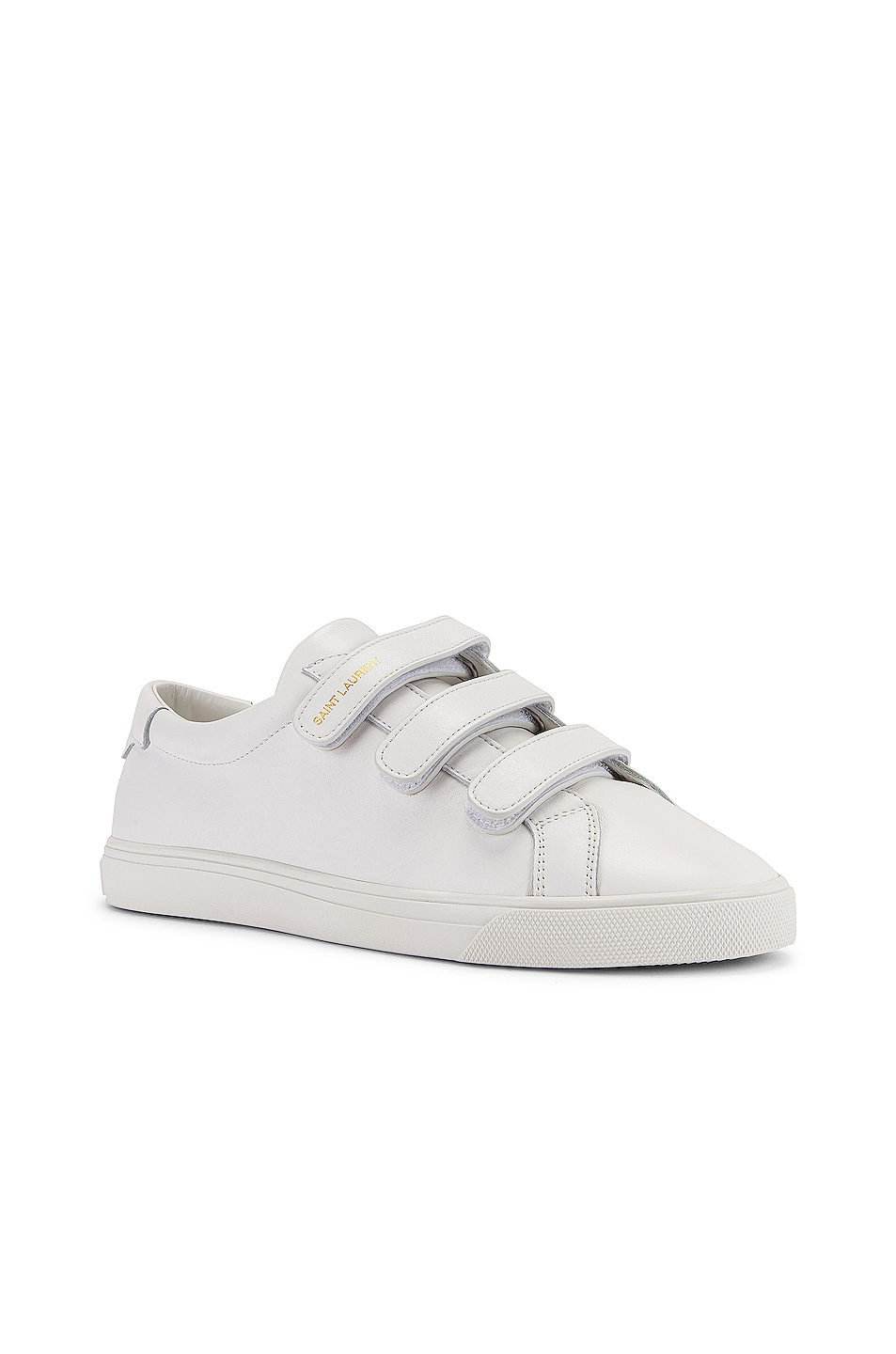 Image 3 of Saint Laurent Andy Velcro Strap Low Top Sneakers in White