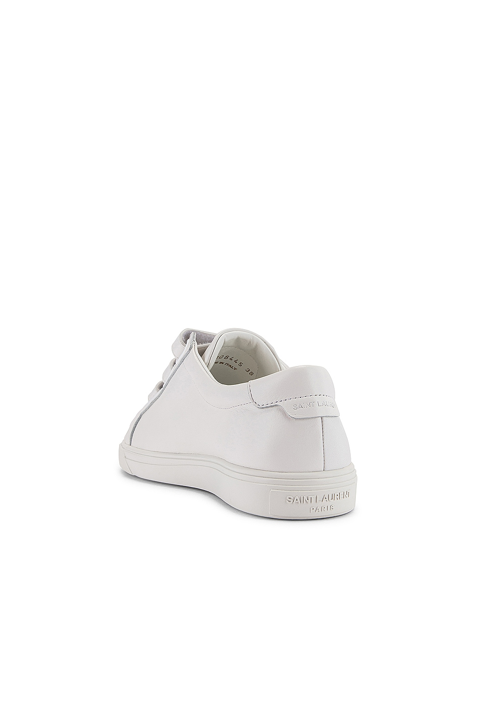 Image 4 of Saint Laurent Andy Velcro Strap Low Top Sneakers in White