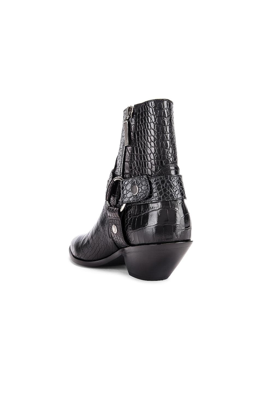 Image 3 of Saint Laurent West Strap Zip Ankle Boots in Black