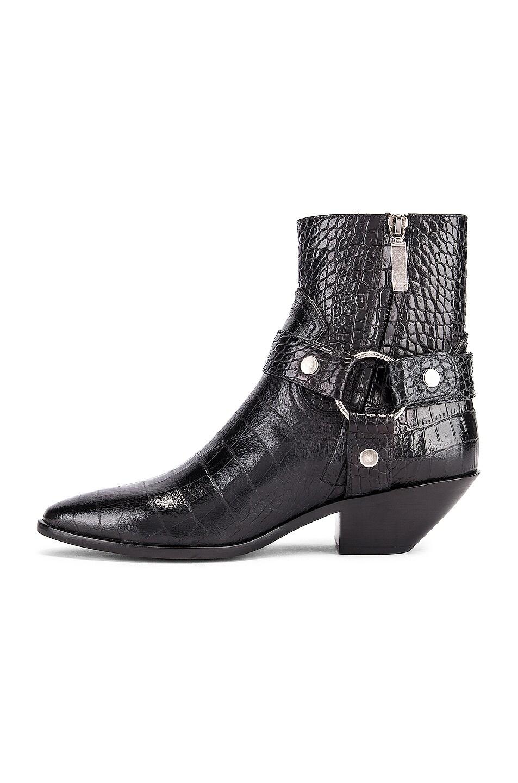 Image 5 of Saint Laurent West Strap Zip Ankle Boots in Black