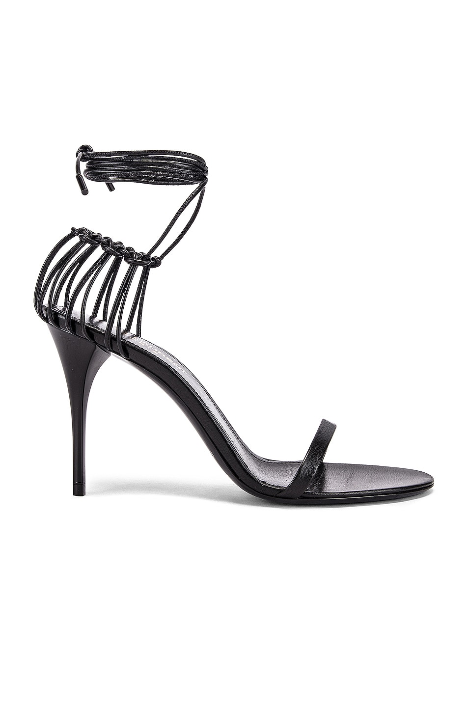 Image 1 of Saint Laurent Lexi Sandals in Black