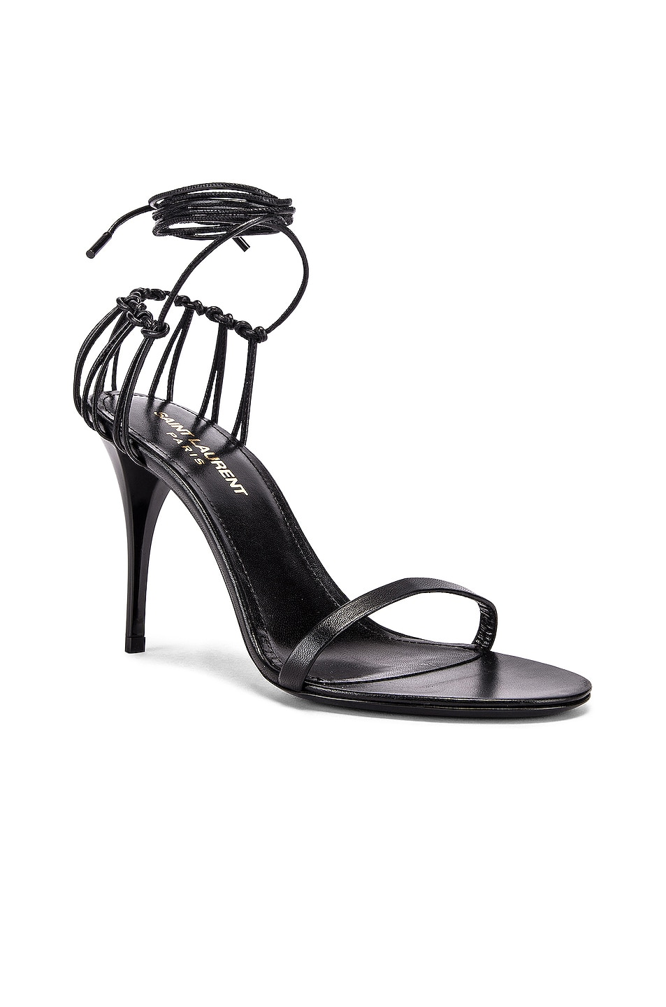 Image 2 of Saint Laurent Lexi Sandals in Black