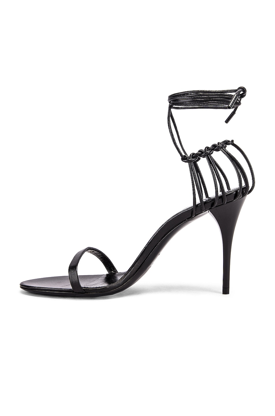 Image 5 of Saint Laurent Lexi Sandals in Black