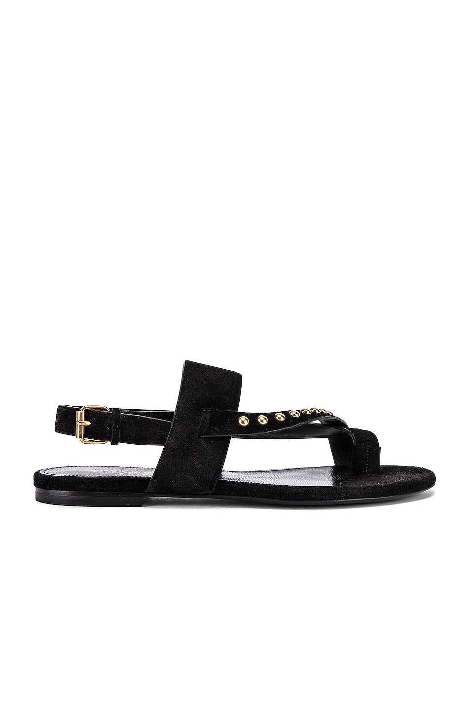 Image 1 of Saint Laurent Gia Stud Sandals in Black