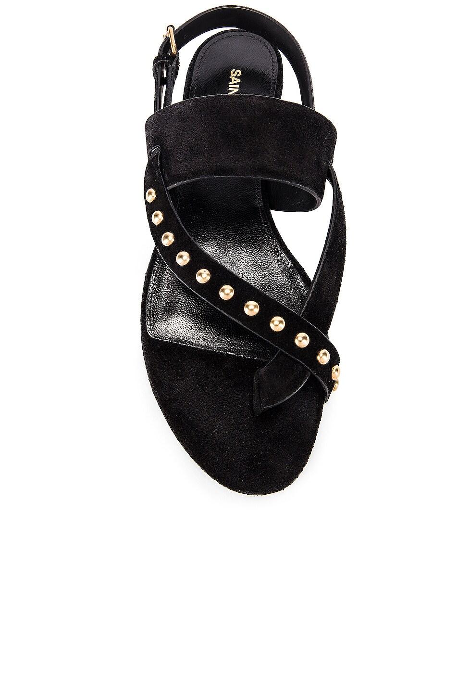 Image 4 of Saint Laurent Gia Stud Sandals in Black