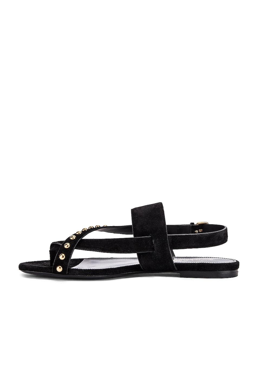 Image 5 of Saint Laurent Gia Stud Sandals in Black