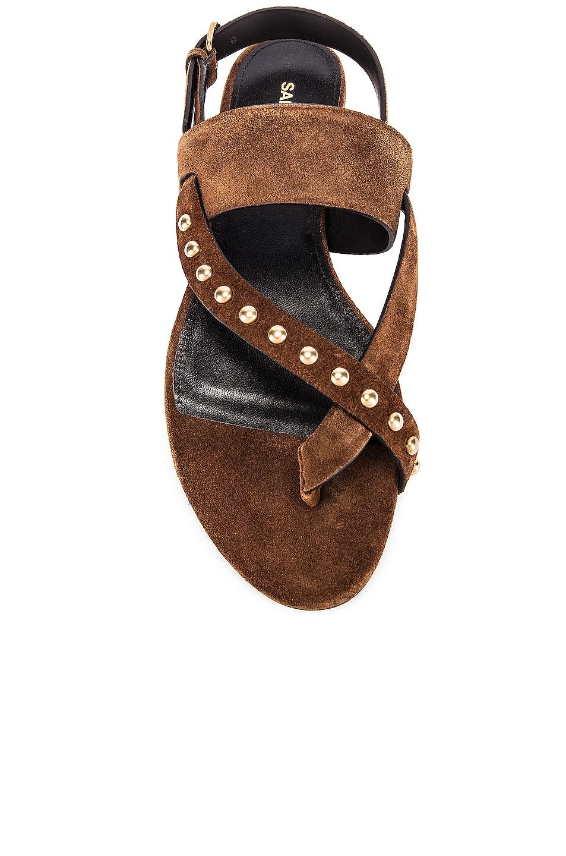 Image 4 of Saint Laurent Gia Stud Sandals in Land