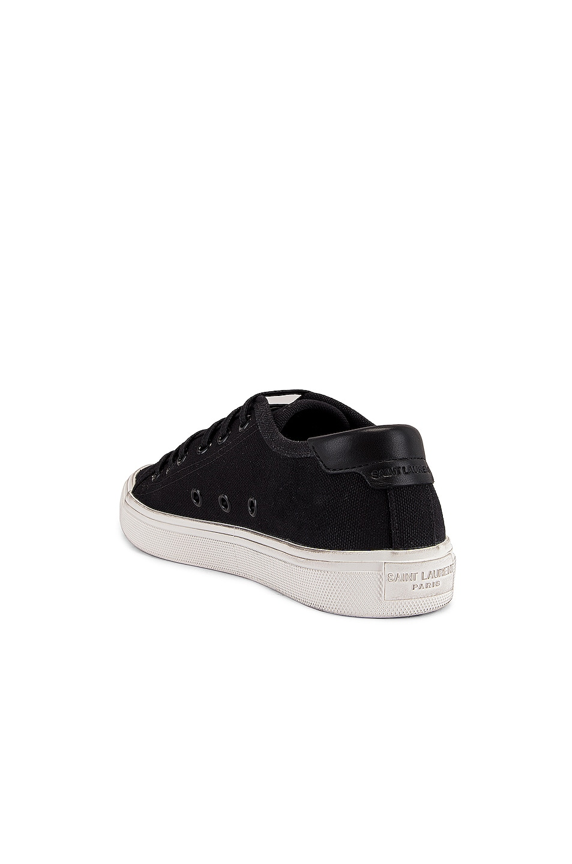 Image 3 of Saint Laurent Malibu Sneakers in Nero & Nero
