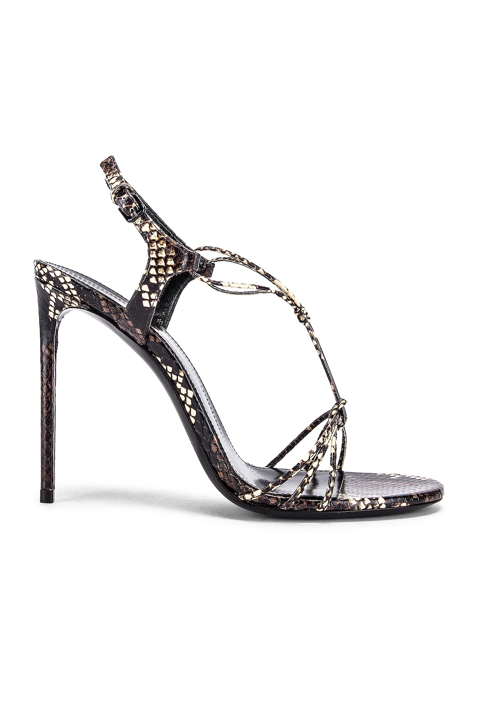 Image 1 of Saint Laurent Robin Lace Sandals in Brown