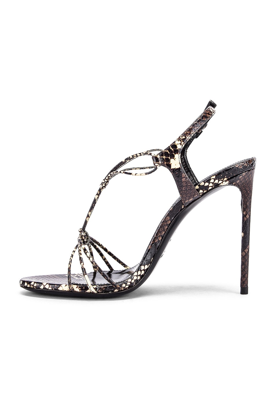 Image 5 of Saint Laurent Robin Lace Sandals in Brown